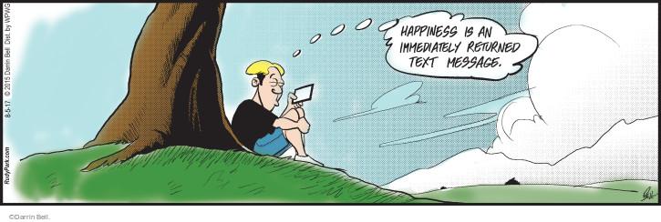 Comic Strip Darrin Bell  Rudy Park 2017-08-05 text message