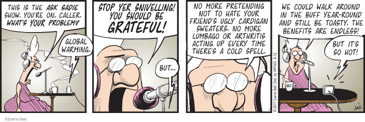 Comic Strip Darrin Bell  Rudy Park 2017-08-12 environment