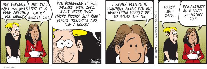 Cartoonist Darrin Bell  Rudy Park 2017-08-31 march