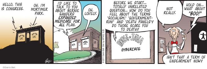Cartoonist Darrin Bell  Rudy Park 2017-09-29 medical