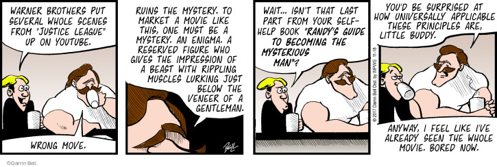 Comic Strip Darrin Bell  Rudy Park 2017-11-18 mystery movie