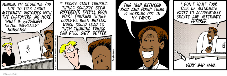 Comic Strip Darrin Bell  Rudy Park 2017-11-24 poor