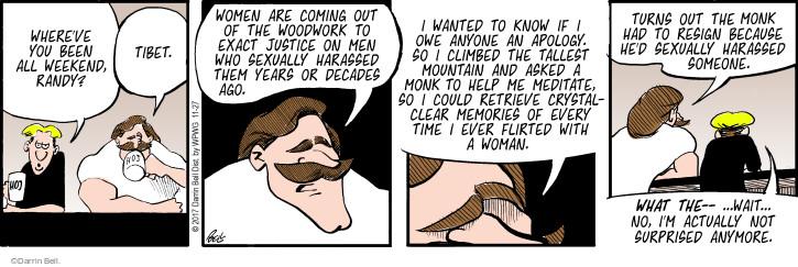 Cartoonist Darrin Bell  Rudy Park 2017-11-27 justice