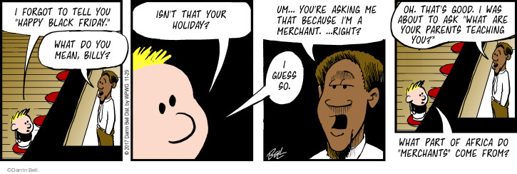 Comic Strip Darrin Bell  Rudy Park 2017-11-29 black