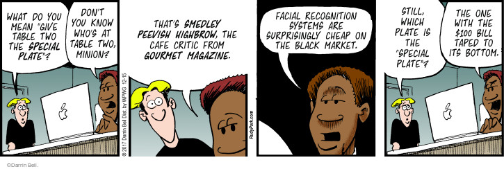 Comic Strip Darrin Bell  Rudy Park 2017-12-15 facial