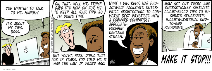Comic Strip Darrin Bell  Rudy Park 2017-12-26 employer
