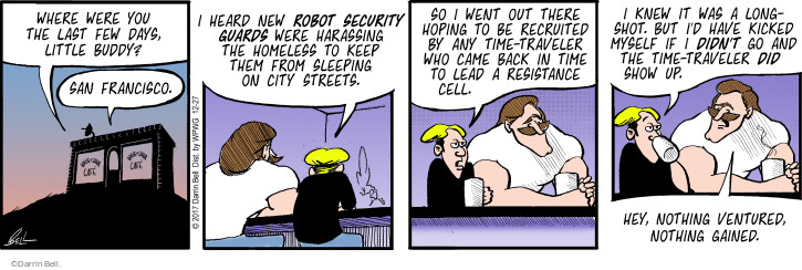 Comic Strip Darrin Bell  Rudy Park 2017-12-27 show time