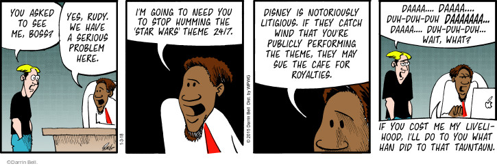 Comic Strip Darrin Bell  Rudy Park 2018-01-03 Disney movie