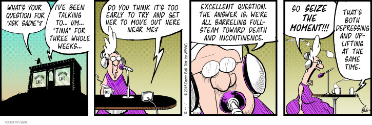 Comic Strip Darrin Bell  Rudy Park 2018-01-09 show time
