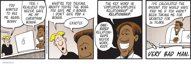 Comic Strip Darrin Bell  Rudy Park 2018-01-26 employee employer