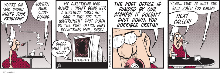 Comic Strip Darrin Bell  Rudy Park 2018-01-30 talk