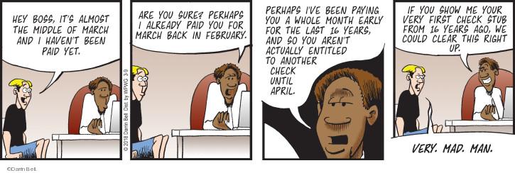 Cartoonist Darrin Bell  Rudy Park 2018-03-09 ago