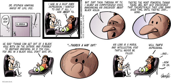 Comic Strip Darrin Bell  Rudy Park 2018-04-08 black