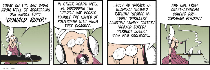 Comic Strip Darrin Bell  Rudy Park 2018-03-30 disagree