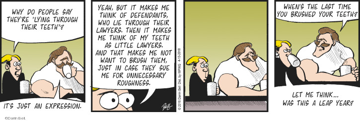 Comic Strip Darrin Bell  Rudy Park 2018-04-13 lawyer