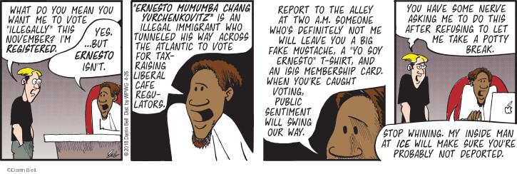 Cartoonist Darrin Bell  Rudy Park 2018-04-26 man