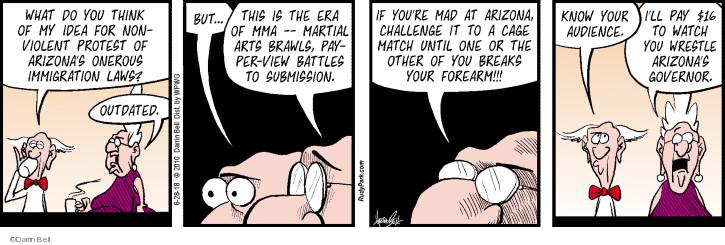 Cartoonist Darrin Bell  Rudy Park 2018-06-28 idea