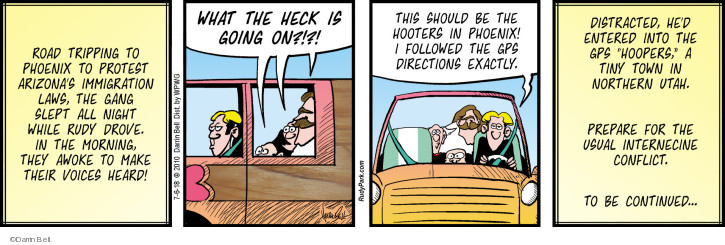 Comic Strip Darrin Bell  Rudy Park 2018-07-06 road trip