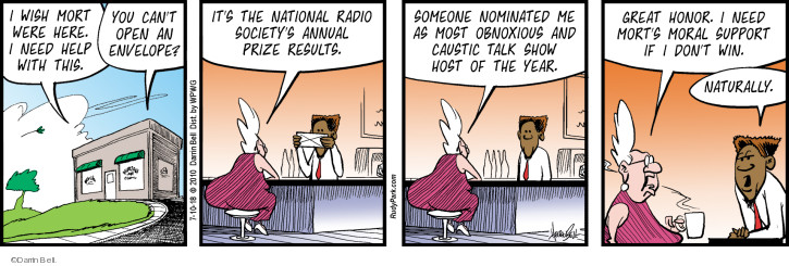 Comic Strip Darrin Bell  Rudy Park 2018-07-10 talk radio