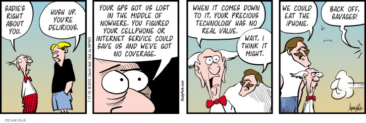 Comic Strip Darrin Bell  Rudy Park 2018-07-17 cell phone coverage