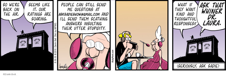 Comic Strip Darrin Bell  Rudy Park 2018-08-18 talk radio