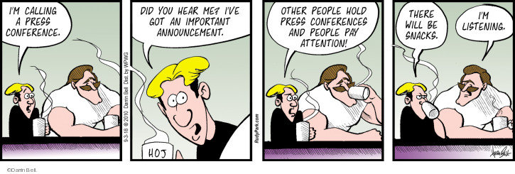 Comic Strip Darrin Bell  Rudy Park 2018-09-03 press conference