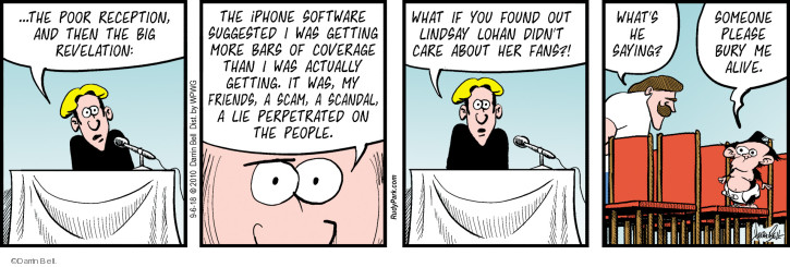 Comic Strip Darrin Bell  Rudy Park 2018-09-06 cell phone coverage