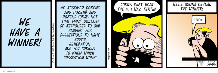 Comic Strip Darrin Bell  Rudy Park 2018-10-15 generation