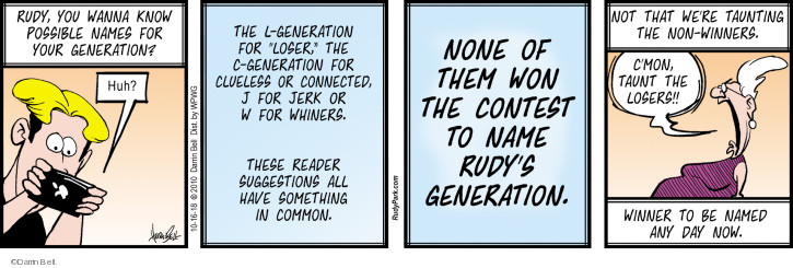 Comic Strip Darrin Bell  Rudy Park 2018-10-16 generation
