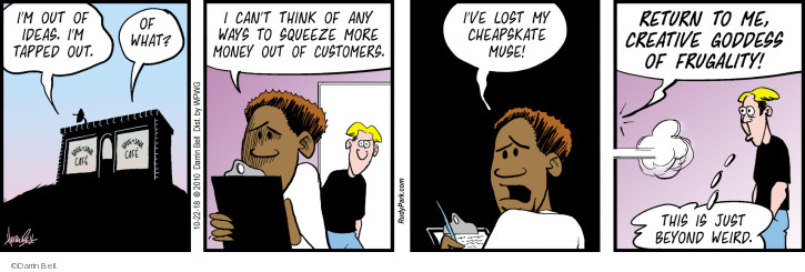Comic Strip Darrin Bell  Rudy Park 2018-10-22 business owner