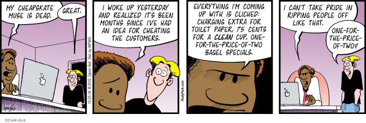 Comic Strip Darrin Bell  Rudy Park 2018-10-23 business owner