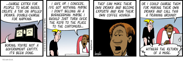 Comic Strip Darrin Bell  Rudy Park 2018-10-26 business owner