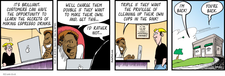 Comic Strip Darrin Bell  Rudy Park 2018-10-27 business owner