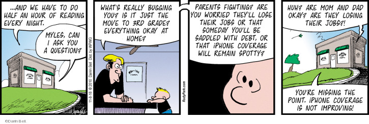 Comic Strip Darrin Bell  Rudy Park 2018-11-08 parent