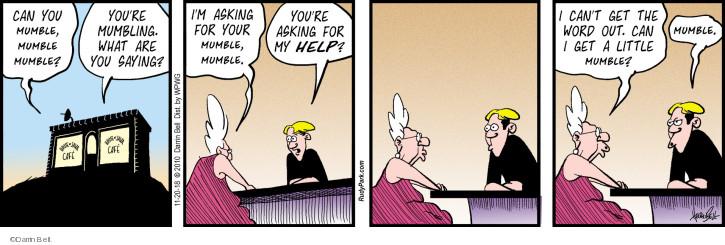 Cartoonist Darrin Bell  Rudy Park 2018-11-20 word
