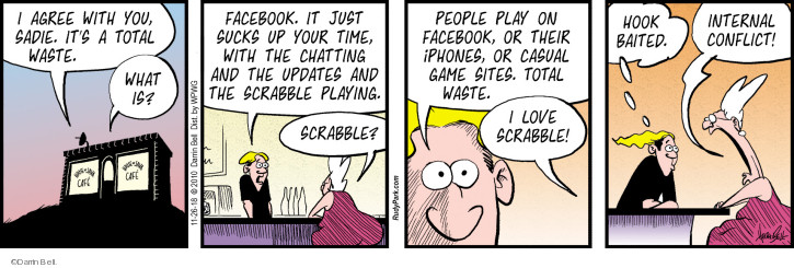Comic Strip Darrin Bell  Rudy Park 2018-11-26 Scrabble