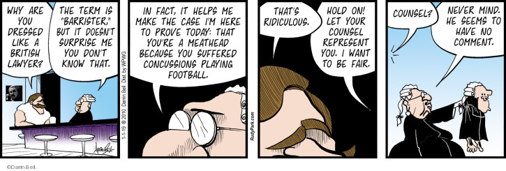Comic Strip Darrin Bell  Rudy Park 2019-01-01 defense