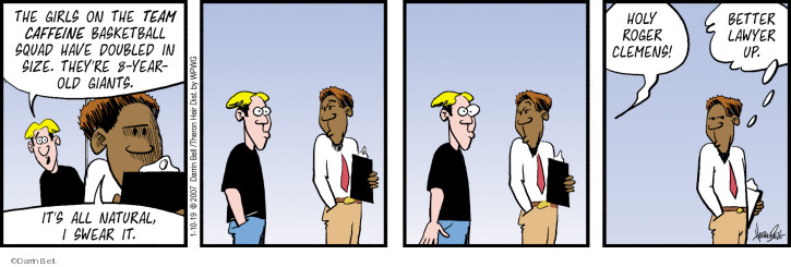 Comic Strip Darrin Bell  Rudy Park 2019-01-10 performance-enhancing drug
