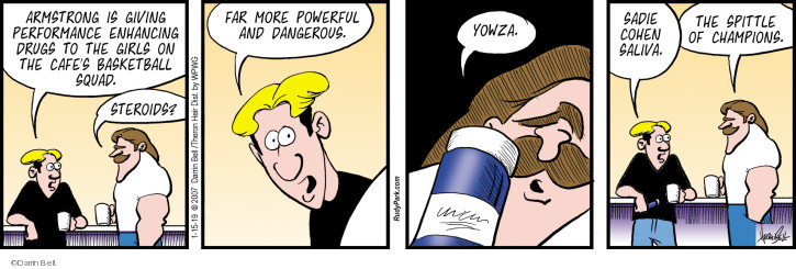 Comic Strip Darrin Bell  Rudy Park 2019-01-15 performance-enhancing drug