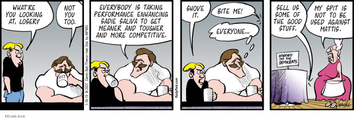 Comic Strip Darrin Bell  Rudy Park 2019-01-18 performance-enhancing