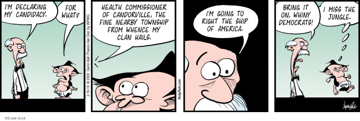 Comic Strip Darrin Bell  Rudy Park 2019-02-19 democrat