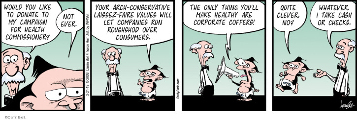 Comic Strip Darrin Bell  Rudy Park 2019-02-21 corporate
