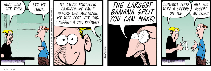 Comic Strip Darrin Bell  Rudy Park 2019-02-23 customer