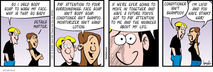 Comic Strip Darrin Bell  Rudy Park 2019-02-27 body