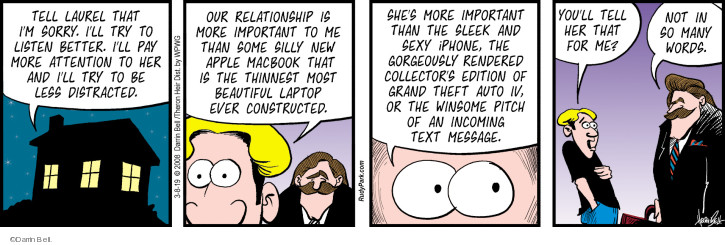 Comic Strip Darrin Bell  Rudy Park 2019-03-08 more important