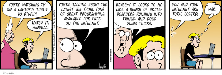 Comic Strip Darrin Bell  Rudy Park 2019-03-12 internet video