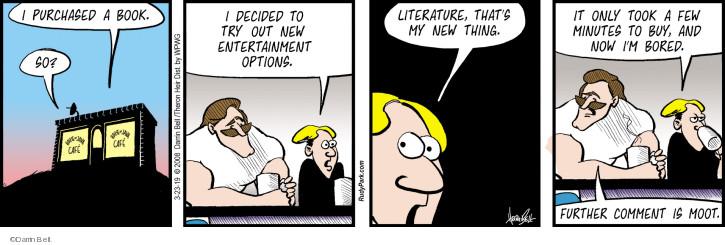 Cartoonist Darrin Bell  Rudy Park 2019-03-23 span