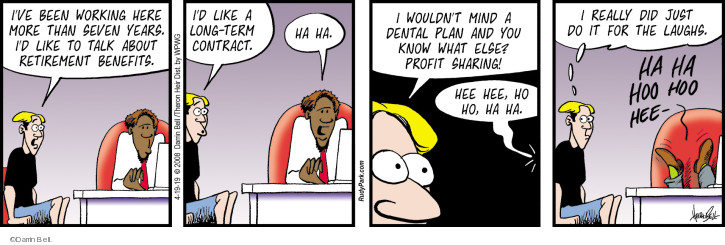 Comic Strip Darrin Bell  Rudy Park 2019-04-19 employee employer