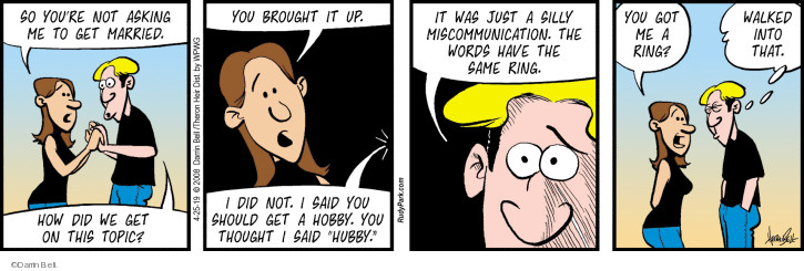 Comic Strip Darrin Bell  Rudy Park 2019-04-25 thought