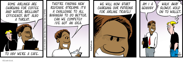 Comic Strip Darrin Bell  Rudy Park 2019-05-08 airline